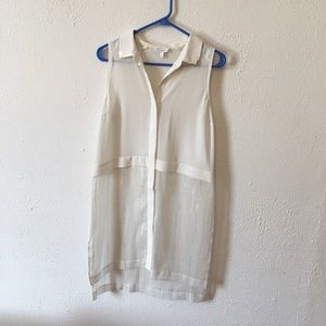 Candies white shimmery sheer tunic size medium